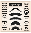 Hipster style mustache set vector image