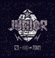Junior rugby team emblem vector image vector image