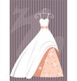 ball dress vector image