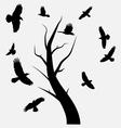 birds in flight vector image