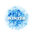 Abstract Winter Background with Set Snowflakes vector image vector image
