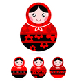 russian doll set vector image