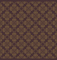 dark brown flower seamless pattern background vector image