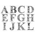 death font vector image