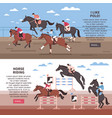 horse riding and polo banners vector image