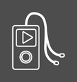 line mp3 player to listen music with headphones vector image