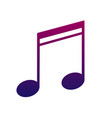 note icon a sign of melody and music bright and vector image