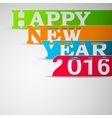 Paper strips with HAPPY NEW YEAR 2016 text vector image
