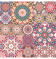 Pastel vintage seamless pattern with floral and vector image