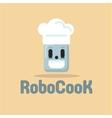 Robot Cook cap smiling flat vector image