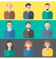 Set business people vector image