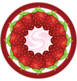 strawberry in a circle vector image
