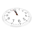 View from one side of clock face vector image
