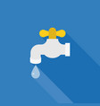water tab icon with droplet of water vector image