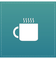 Tea cup flat icon vector image