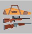 two shotguns hunting gun vector image