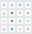 multimedia colorful icons set collection of radio vector image
