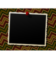 Photo frame over a knitted background vector image