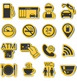 Gas station icons Fuel icons Stickers vector image