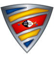 steel shield swaziland vector image vector image