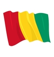 political waving flag of guinea vector image vector image