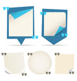 Collection of different paper messages vector image vector image