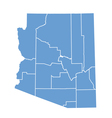 State map of Arizona by counties vector image