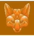 Animal fox head print Ethnic patterned ornate vector image