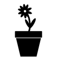 Black flower icon vector image