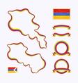 Colors of Armenia vector image