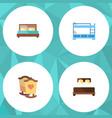 flat mattress set of bunk bed mattress crib and vector image