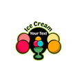 ice cream logo for company or shop vector image