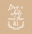 inspirational quote about love and romance vector image