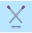 Knitting is love Modern line icon of vector image