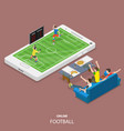 online football flat isometric concept vector image