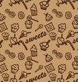 Sweets brown pattern vector image