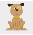 playful doggy with collar icon vector image