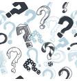 doodle interrogation marks seamlles vector image