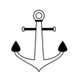 anchor navy icon image vector image