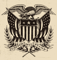 Hand Drawn American Eagle Linework vector image vector image