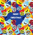 Merry christmas card - whimsical design vector image