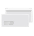 Two blank envelopes opened and closed vector image