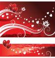 Valentine's banner vector image