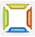 feedback stickers vector image vector image