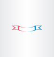 stylized red blue ribbon vector image