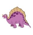 cute cartoon stegosaurus comic draw vector image