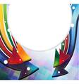 Color arrows frame vector image