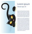 cute little black kitty vector image