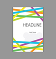 design headline cover vector image
