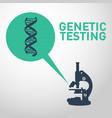 genetic testing logo icon design vector image
